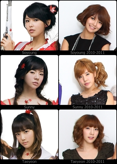 girls generation before and after. Before and after